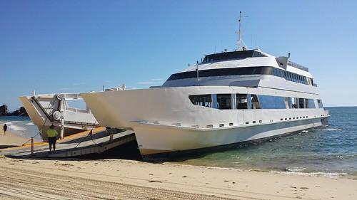 MICAT ferry at Moreton Island