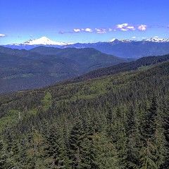 View of #mountbaker from #north #mountain #fire #lookout