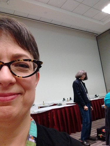 Surreptitious selfie with Gwen Marston