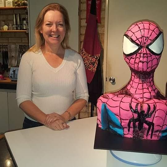 Spiderman Cake by Vicky Caldwell