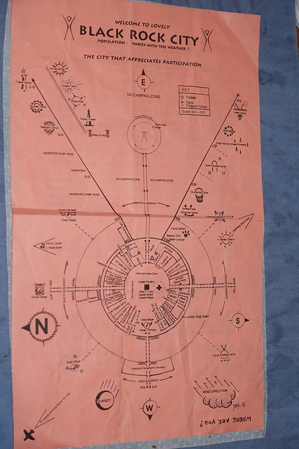 1996 Burning Man map