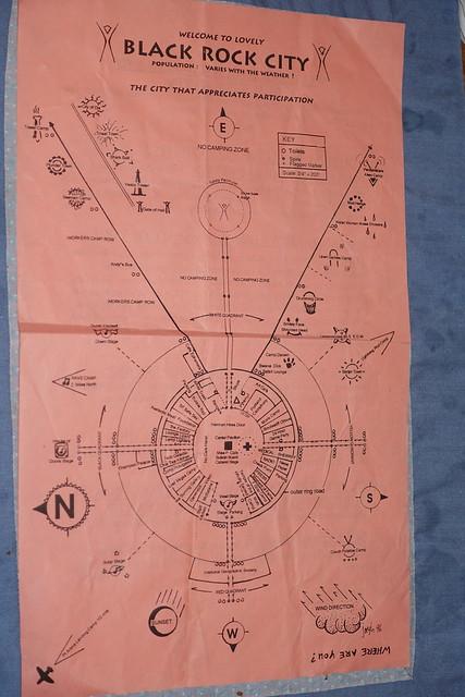 1996 Burning Man map