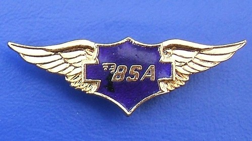 (BSA) Birmingham Small Arms - motorcycles merchandise badge (1990's / 2000's)