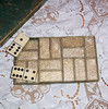 Vintage Set of Glitter-Back Lucite and Celluloid Dominoes