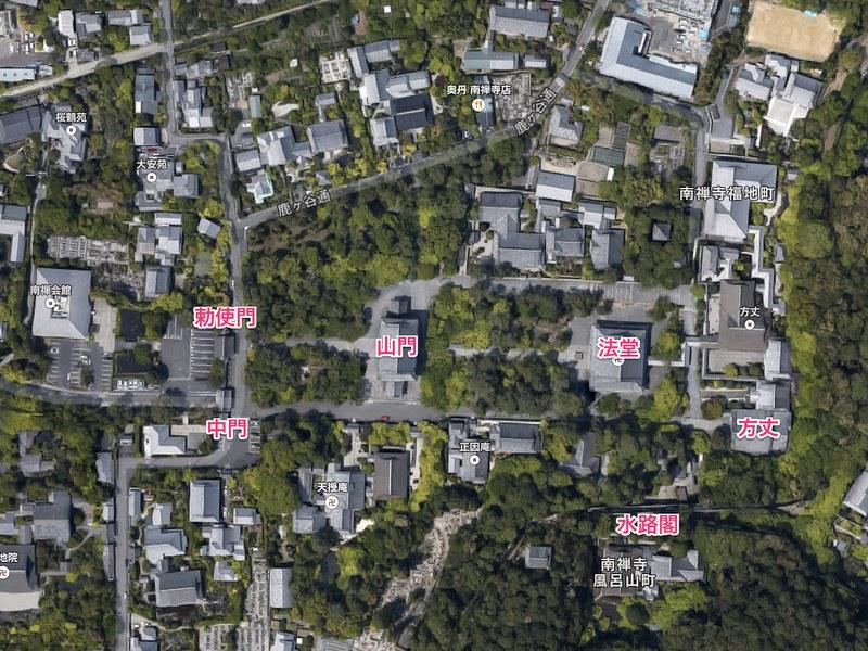 建物の位置/南禅寺(Nanzen-ji Temple / Kyoto City)