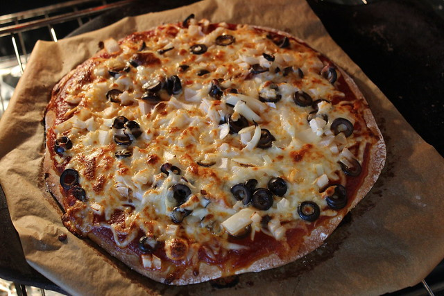 Gluten Free Pizza Crust Recipe on a Pizza Stone