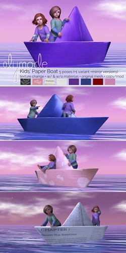 kids' paper boat