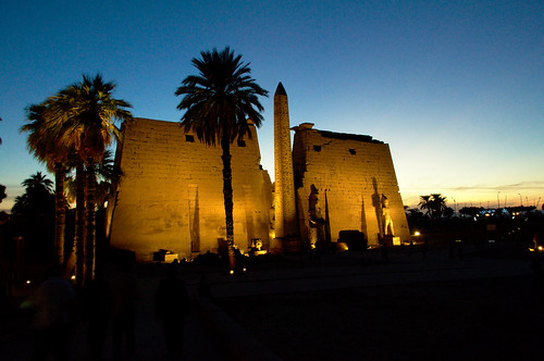 Luxor Temple as the Sun Sets