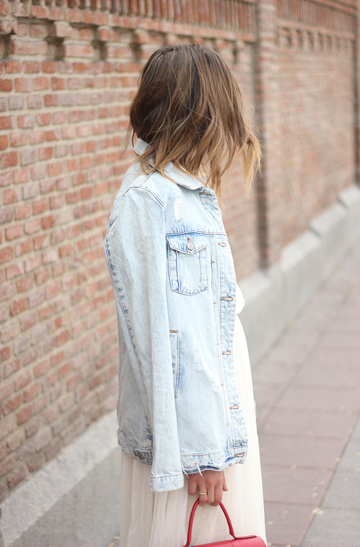 Tulle Skirt Denim Jacket10