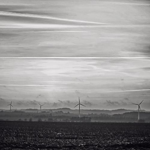 sunset sky bw monochrome landscape denmark blackwhite scenery view himmel windmills marker fields danmark bnw solnedgang udsigt landskab forår mors 2015 vindmøller alsted canoneos5dmrkii theislandmors