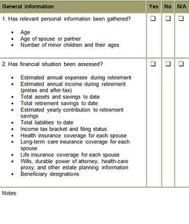 Retirement checklist part 1 David Lerner Associates
