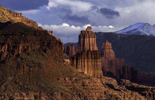 sunset landscape utah moab redrock professorvalley
