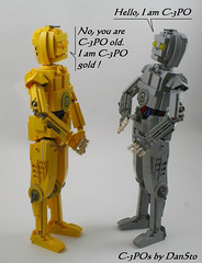 C-3PO meets himself (or not)