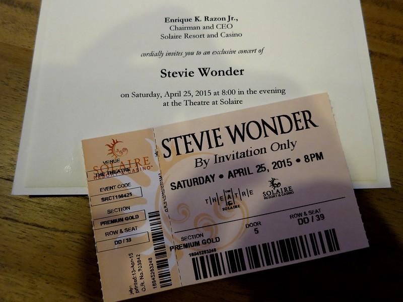 Stevie Wonder invitation