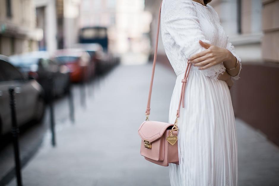 pastel-pink-bag-marc-b-white-lace-dress