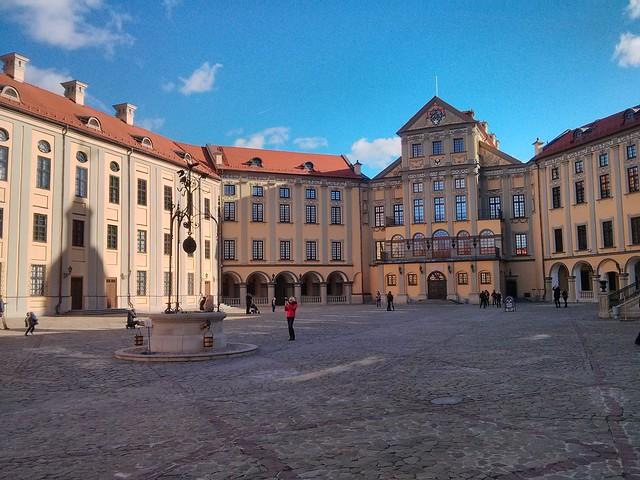 Nesvizh castle court