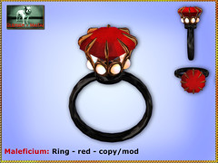 Bliensen - Maleficium - Ring - red