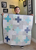 Baby quilt (with the cutest quilt holder ever)