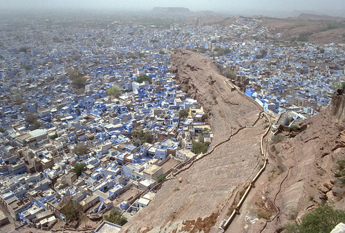 old city blue desert fort slide scan rajasthan jodhpur mehrangarh