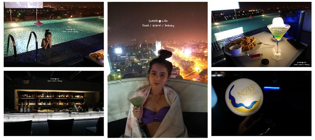 食記.嘉義 | N23.5 Lounge 不必到新加坡也有夜色覆蓋的無際泳池酒吧