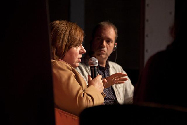 Conferència de la Premi Nobel Svetlana Aleksiévitx a la fira Literal 2016.