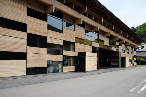 architecture japan kengokuma timber wood cityhall glass kochi