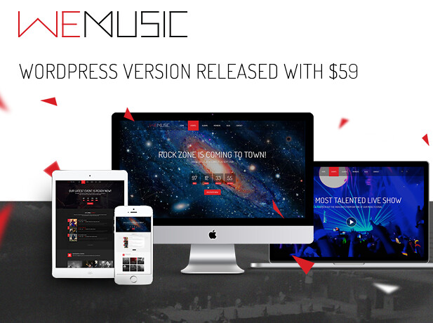 WeMusic Music Band Event WordPress Theme