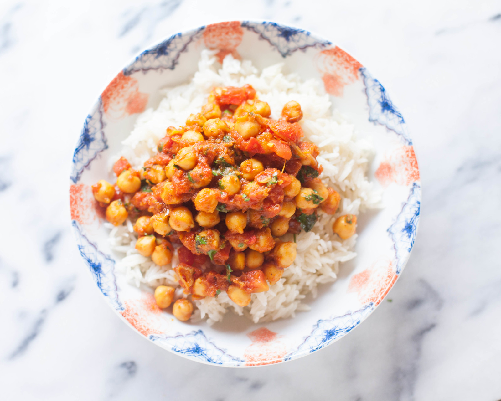 tomato curry chickpea and rice