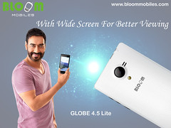 Bloom GLOBE 4.5 Lite With Wide Screen For Better Viewing