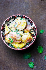 salad from fried potatoes.