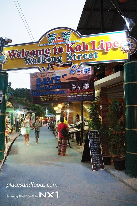 ko lipe walking street signage