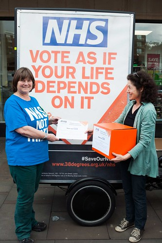 Hampstead and Kilburn NHS petition hand-in