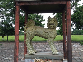 Lion near royal palace