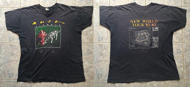 Vintage 1982 / 1983 RUSH Tour T-Shirt Signals