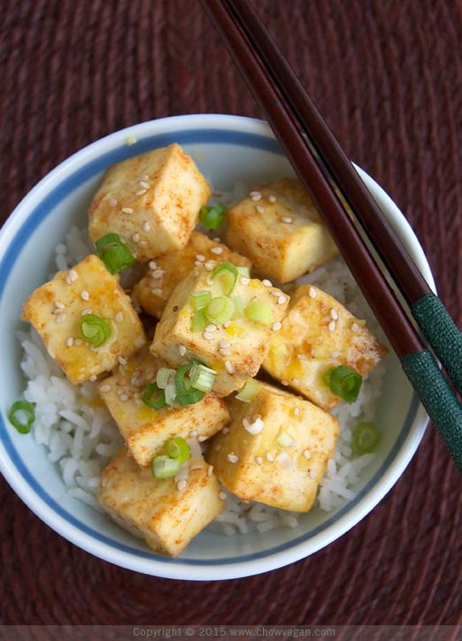 Roasted Tofu in Lemon Sauce - Chow Vegan