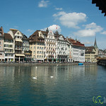 Lucerne's Old Town and Covered Bridge - Switzerland