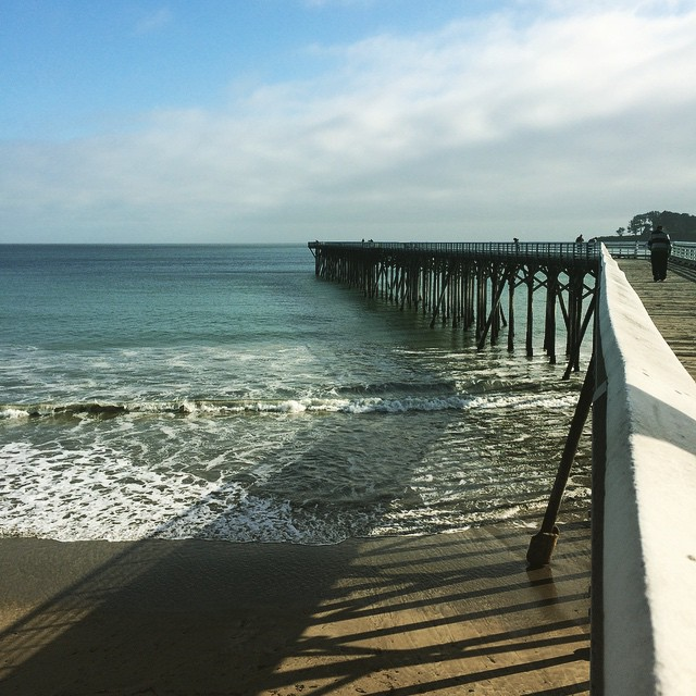Walking down the pier. #familyvacation #dabeach #sansimeon