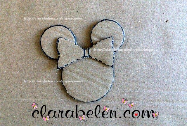 Cómo dibujar con tapones una plantilla del lazo de Minnie Mouse