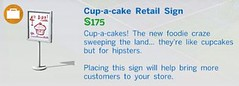 Cup a Cake Retail Sign