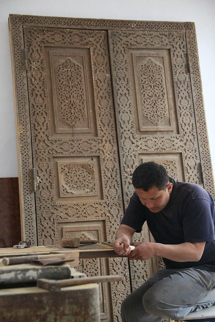 A wood carving madrassah