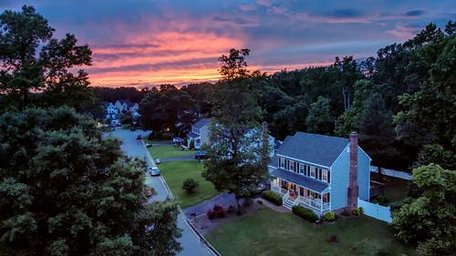 street sunset sky virginia us twilight unitedstates dusk 4 neighborhood suburbs phantom uav drone glenallen phantom4 dji