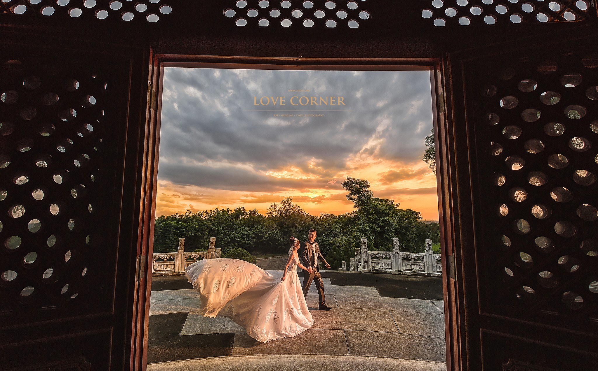 台南 烏山頭 婚紗 澤于 愛情街角