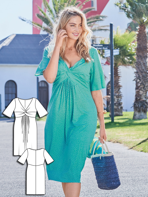 plus size dress sewing pattern 134B-062016-B