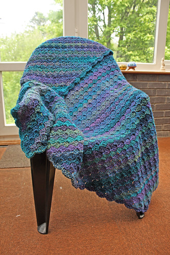 Blue corner-to-corner blanket