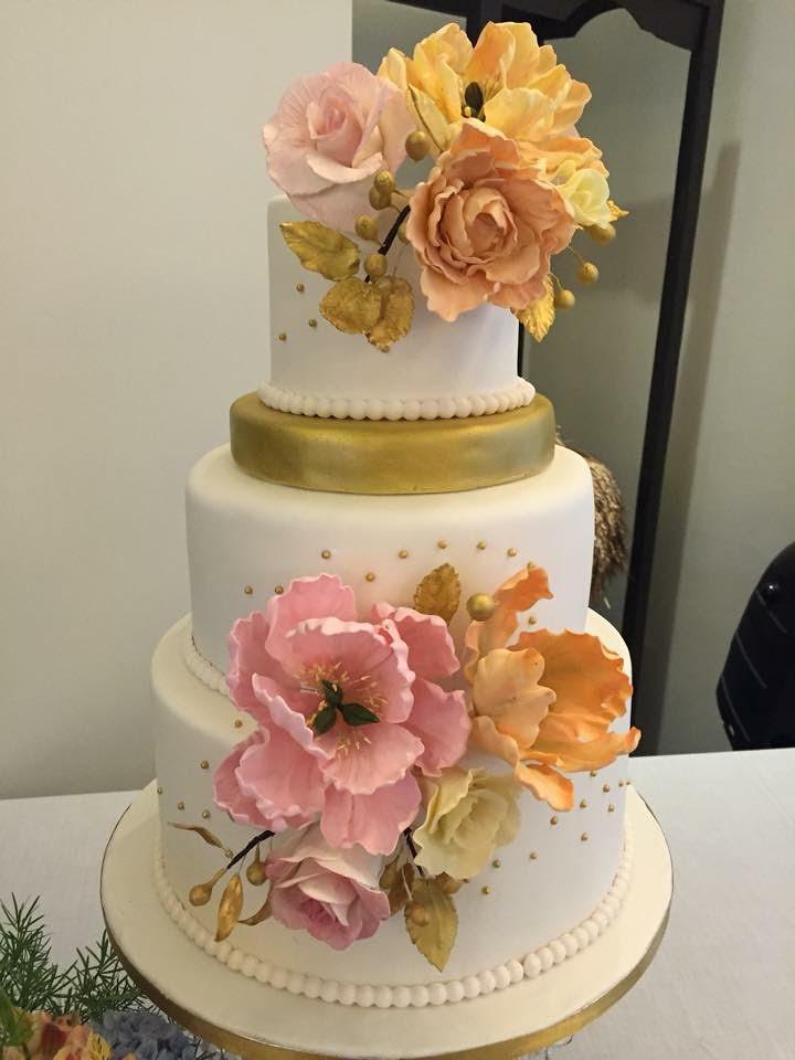 Beautiful Flowers Cake by Maite Tatco-Martin of Cupcake Mistress