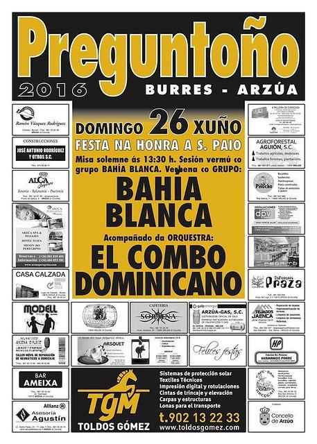 Arzúa 2016 - Festas en Preguntoño-Burres - cartel