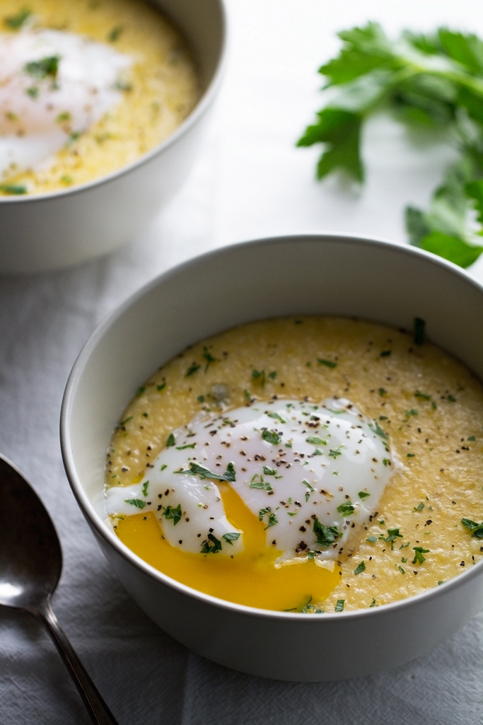 Jalapeno-Cheddar-Grits-with-Poached-Eggs-Jalapeno Cheddar Grits with Poached Eggs - these are perfect for brunch or brinner. #poachedeggs #grits #comfortfood | Littlespicejar.com