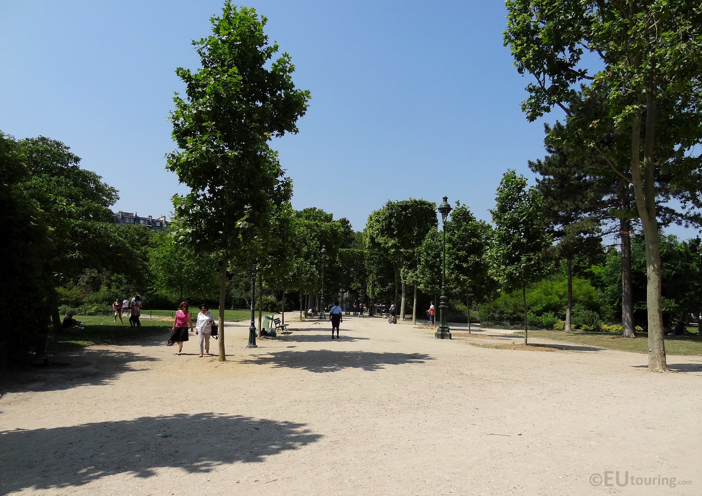Open areas of Champ de Mars