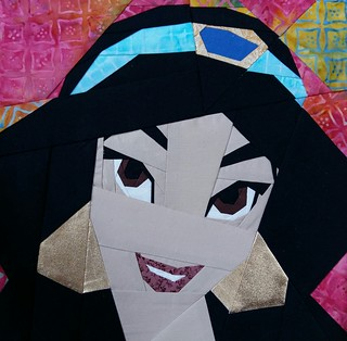 Jasmine. Paper pieced. Fandom in Stitches.