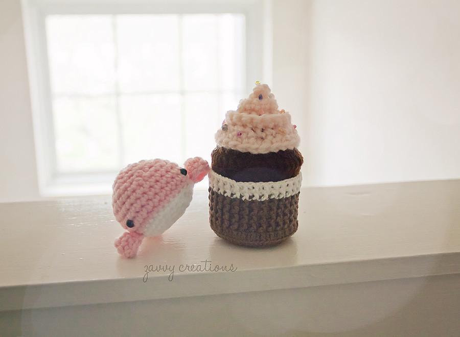 Whale Buddy & Cupcake Amigurumi